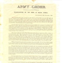 Image of Army Order
