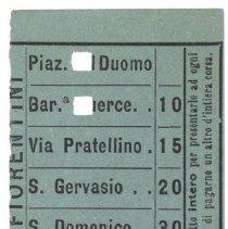 Image of Loose 10 Milan Tramways Ticket