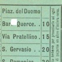 Image of Italian Train Ticket Green