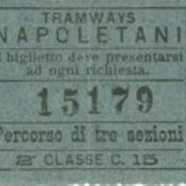 Image of Naples Tramway Ticket blue