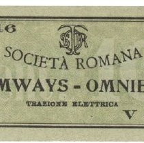 Image of Loose 11 Rome Tramways Ticket