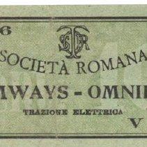 Image of Loose 12 Rome Tramways Ticket
