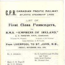 Image of Loose 3.2 Pg 1 Passenger List