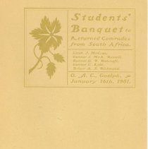 Image of Student Banquet Menu