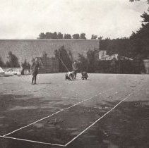 Image of Page 64 Officers making tennis Court