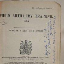 Image of Field Artillery Training