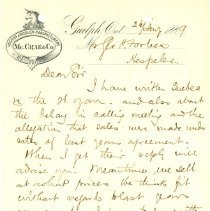 Image of McCrae and Co. Letter, 1889