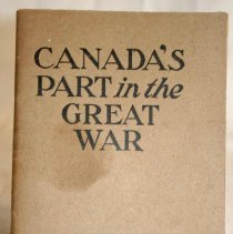 Image of Canadas Part in the Great War