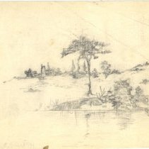 Image of .2 Pencil sketch of tree by wa
