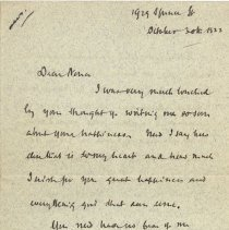 Image of Letter to Nona from Tom  pg.1