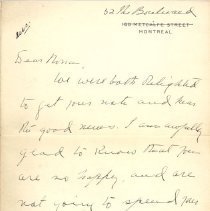 Image of Letter from Angus Archibald p1
