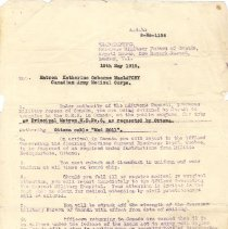 Image of Letter to Matron MacLatchey