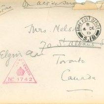 Image of Envelope from John McCrae
