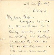 Image of Letter Dec 31 1916 pg1