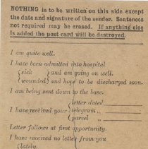 Image of Postcard Apr 22 1915 side2
