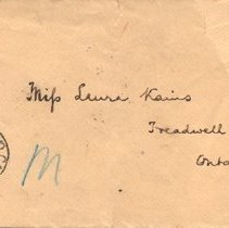 Image of Envelope for Ms. Laura Kains
