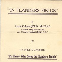 Image of In Flanders Fields titlepage