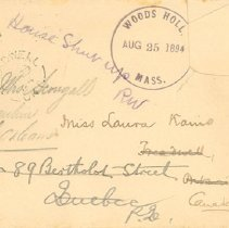 Image of Envelope to Ms. Laura Kains