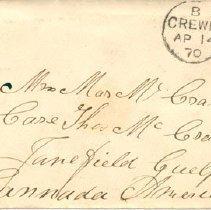 Image of Envelope to Mr.&Mrs. McCrae