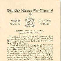 Image of The Clan Macrae War Memorial