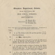 Image of 1981.289.11 - Exam