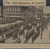Image of 34th Battalion at Guelph