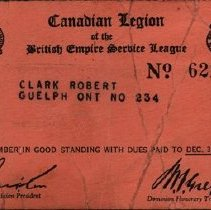 Image of Legion Membership Card