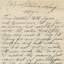Image of Letter Page 4 front