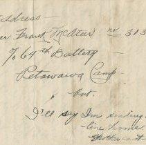Image of Letter Page 4 back