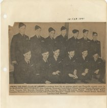 Image of .23  Newspaper Photo Local Members of First Class of Airmen  (1941)