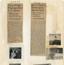 Image of .25 Two Newspaper Clippings, Five Photos (1941)