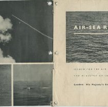 Image of .17 Inside Front Cover And Page 1  Booklet Air-Sea Rescue (1942)