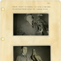 Image of .22 Two Photos of Mr. Ramshaw the Eagle  (1941) Handwritten Notes On Back