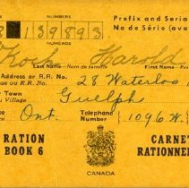 Image of 1986.32.22 - Book, Ration