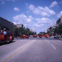 Image of Fire Trucks on Wyndham Street, 1982