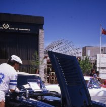 Image of Corvette Display in St. George's Square, 1983