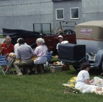Image of Picnic With Antique Packard Cars, 1987