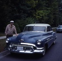Image of 1958 Buick Car on Westwood Road, 1989