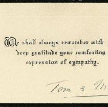 Image of Sympathy Card