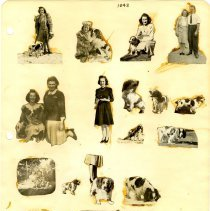 Image of .30 Eighteen Cutouts of Family and Pet Dog (1942)