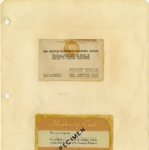 Image of .75  One Business Card and One Membership Card  (1942)