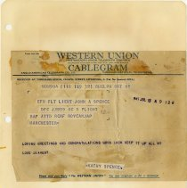 Image of .11  Cablegram   13 July 1943