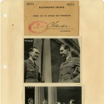 Image of .13  Ticket and Two Photos    1943