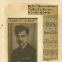 Image of .15  Newspaper Article and Photo in Two Clippings    1943