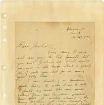 Image of .24 front   Handwritten Letter    2 Sept 1943