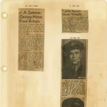Image of .25  Three Newspaper Articles in Three Clippings  (1943)