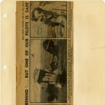 Image of .4  Newspaper Clipping of Three Photographs   1942