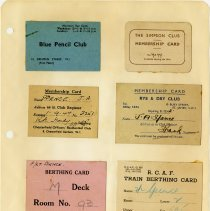 Image of .32  Four Membership Cards and Two Berthing Cards    (1943)