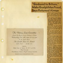 Image of .38  Invitation and Newspaper Article in Two Clippings     (1943)