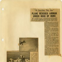 Image of .5  Newspaper Article and Two Photos in Two Clippings   1943